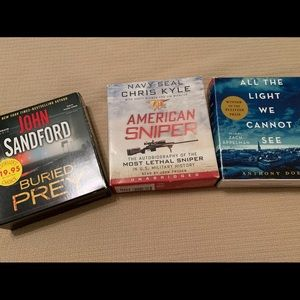 Audio Books $15 for all 3!